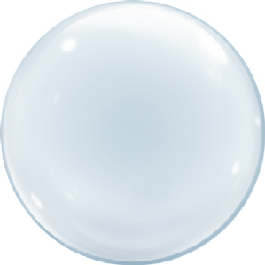 Clear Deco Bubble Balloon (24